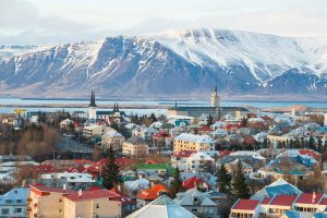 Reykjavik the capital city of Iceland by istock