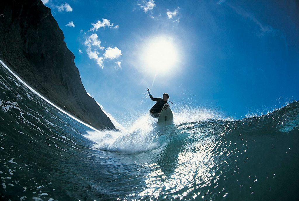 Surfing in Famara Beach