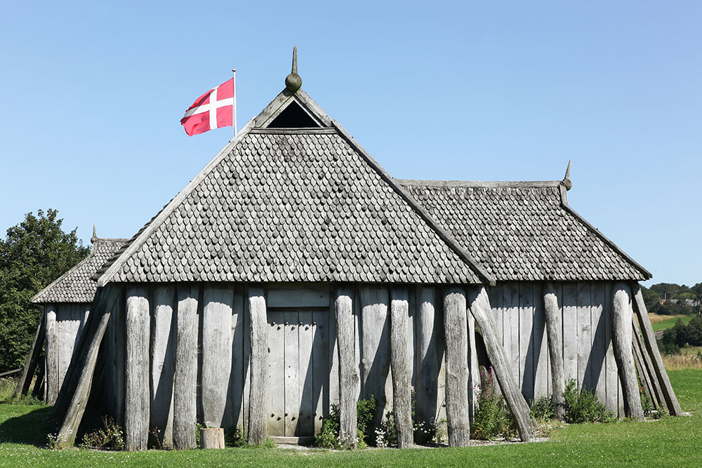 Viking house in the city of Hobro