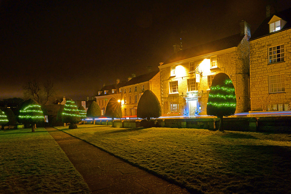 Christmas lights in the Church Grounds