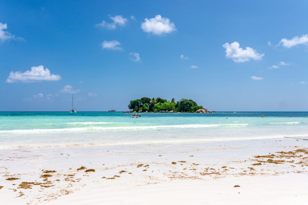 View over Anse Volbert Praslin Seychelles