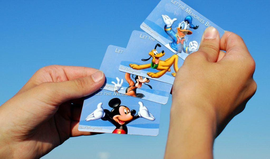 Disney World Admittance Cards