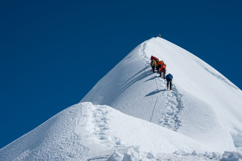 Island peak is one of the most popular trekking peak in Nepal.