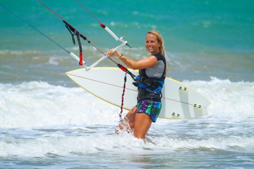 Kite Surfing in Cabarete, Dominican Republic
