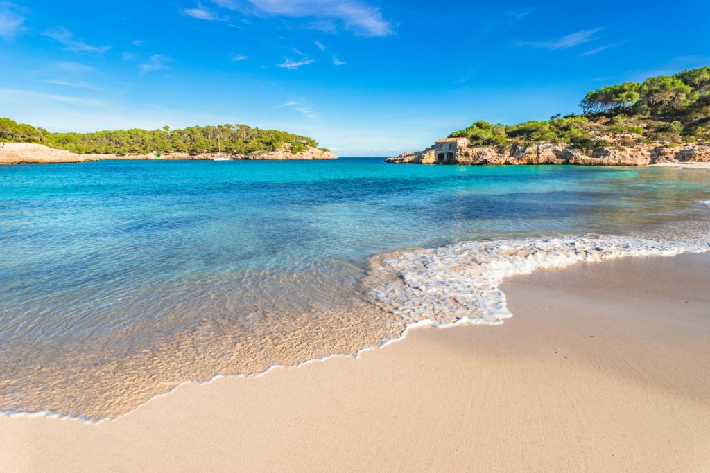 Picturesque beach Mallorca island, beautiful seaside bay of Cala S'Amarador