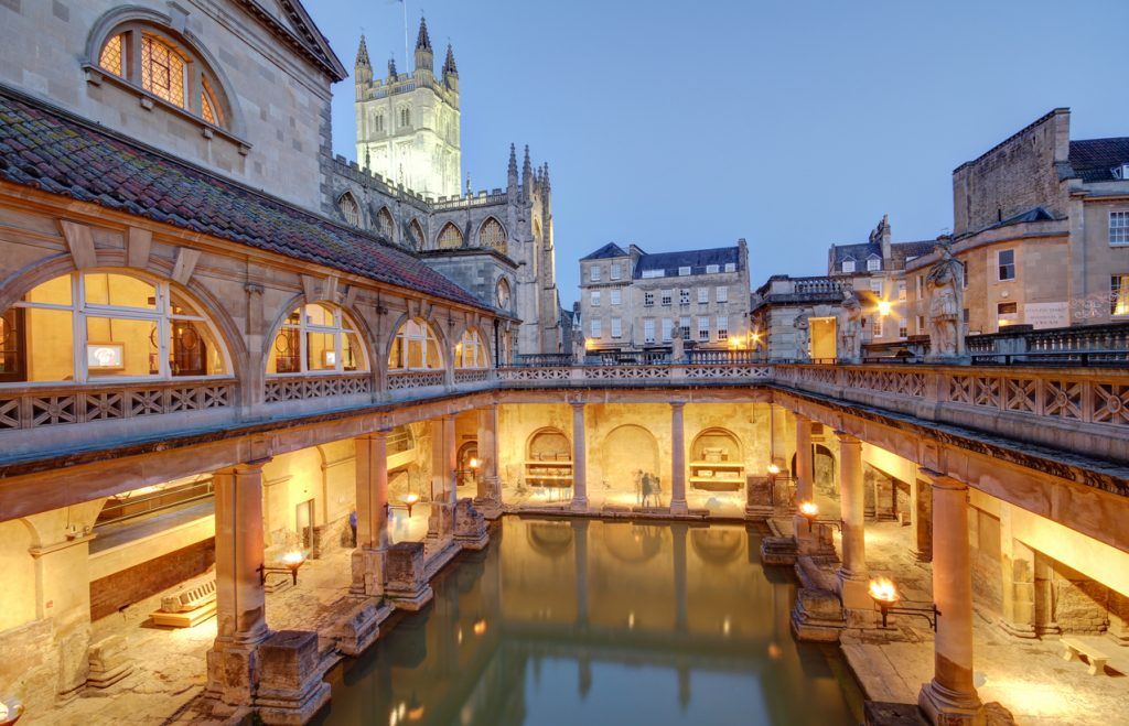 Old roman baths at Bath, built on the site of the Godess Aquae Suilis
