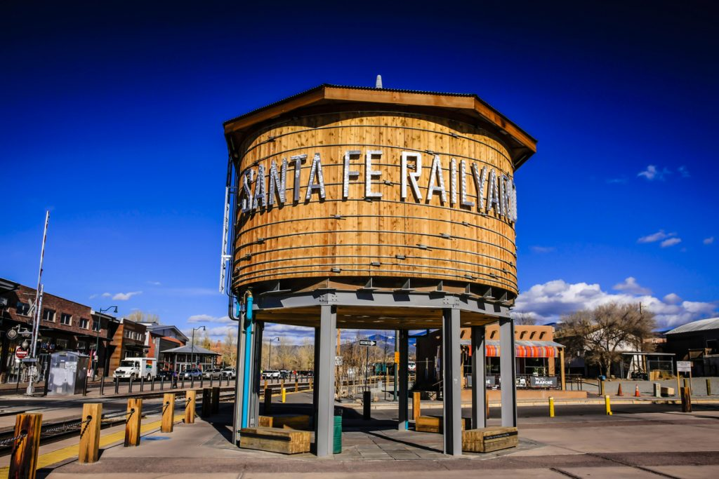 The Water Tower in the Railyard Park, Santa Fe, New Mexico