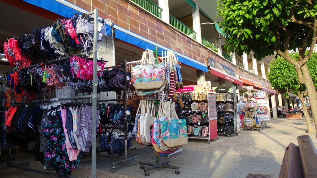 The small shops of Canyamel, Majorca, Spain