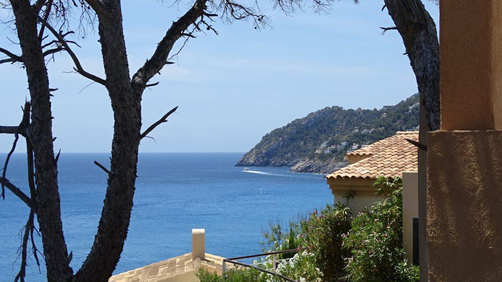 The entrance to the bay at Canyamel, Majorca, Spain