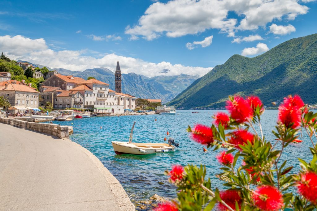 Historic town of Perast at Bay of Kotor