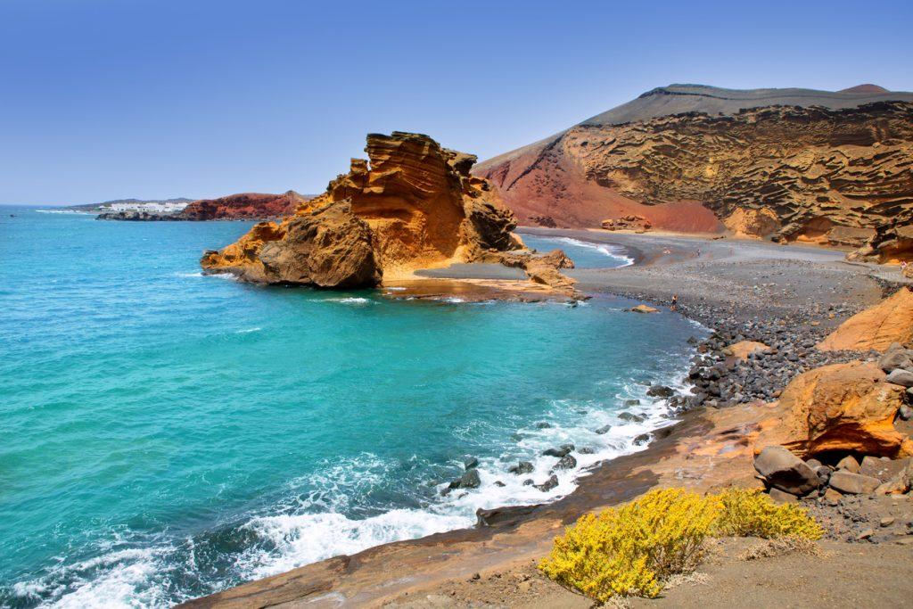 El Golfo near Lago de los Clicos in Lanzarote