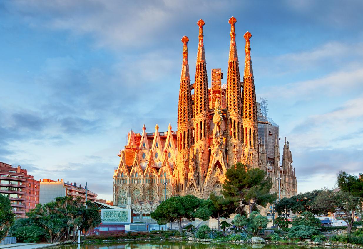 Sagrada Familia, Catholic church in Barcelona, Spain