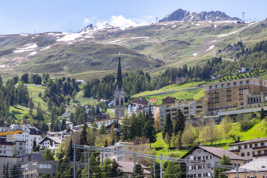 St. Moritz - summer landscape, Switzerland