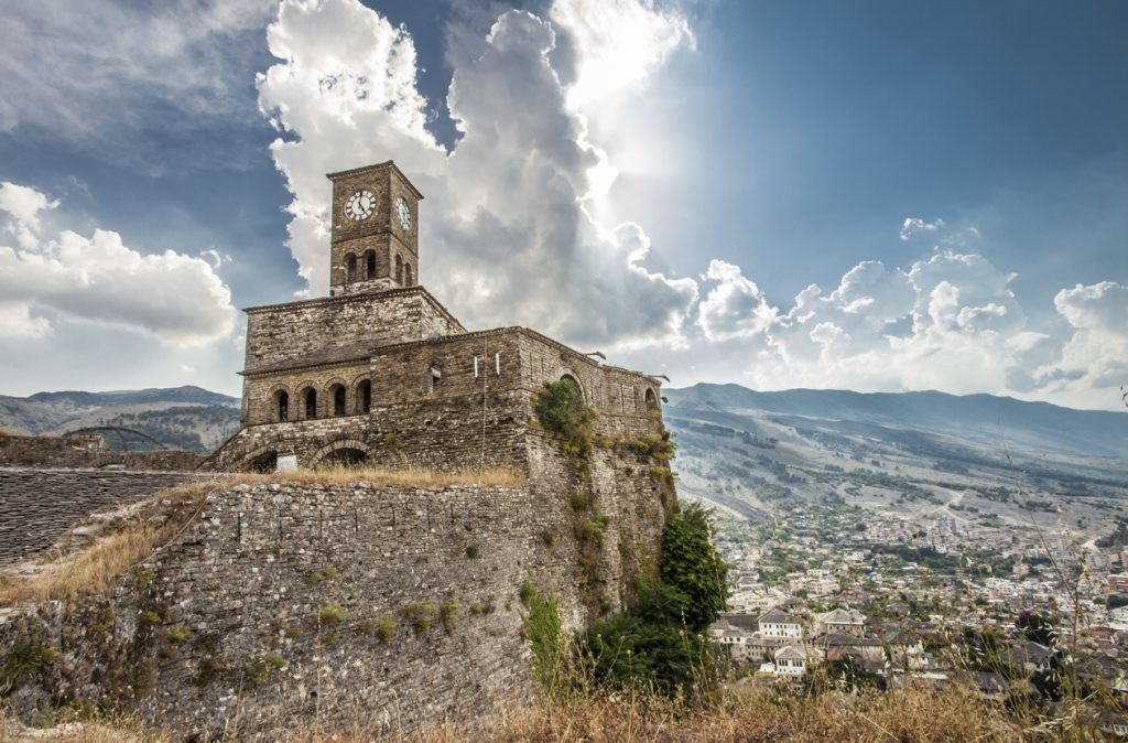 Gjirokastra Castle Albania UNESCO World heritage sight
