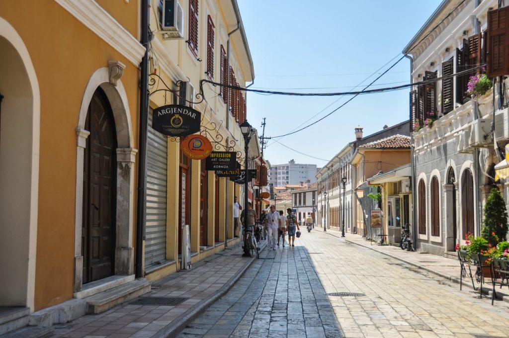 Street life in Tirana.