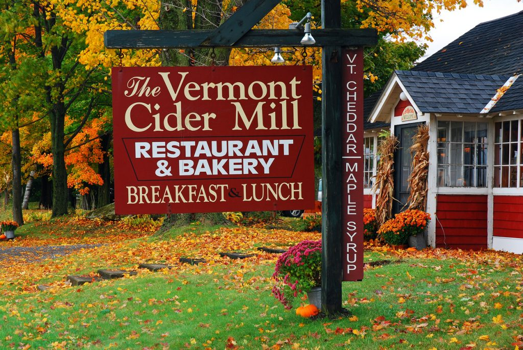 An old cider mill is converted into a small diner in Vermont