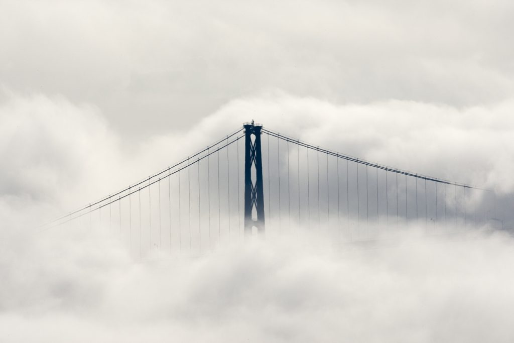 Lions Gate Bridge, Vancouver in Clouds