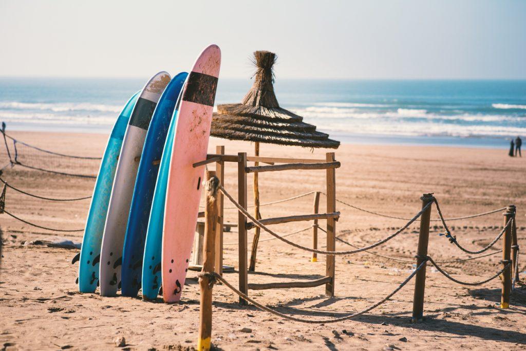 Surfing in Casablanca - Morocco