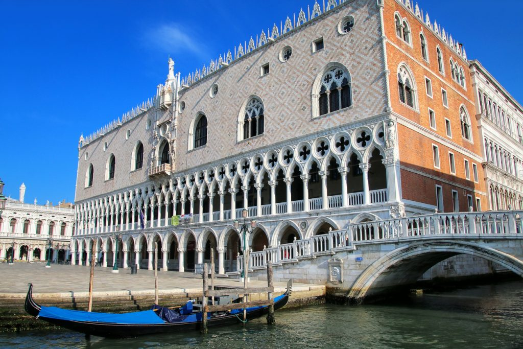 View of Palazzo Ducale from Grand Canal in Venice