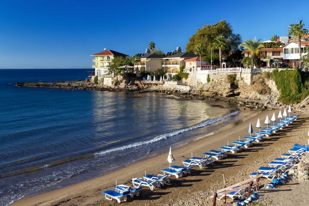 Beautiful beach in Side, Turkey