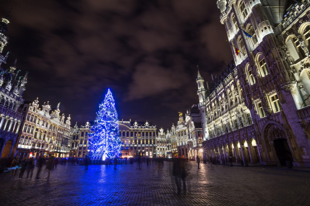 Brussel Christmas Market is held at Grote market place