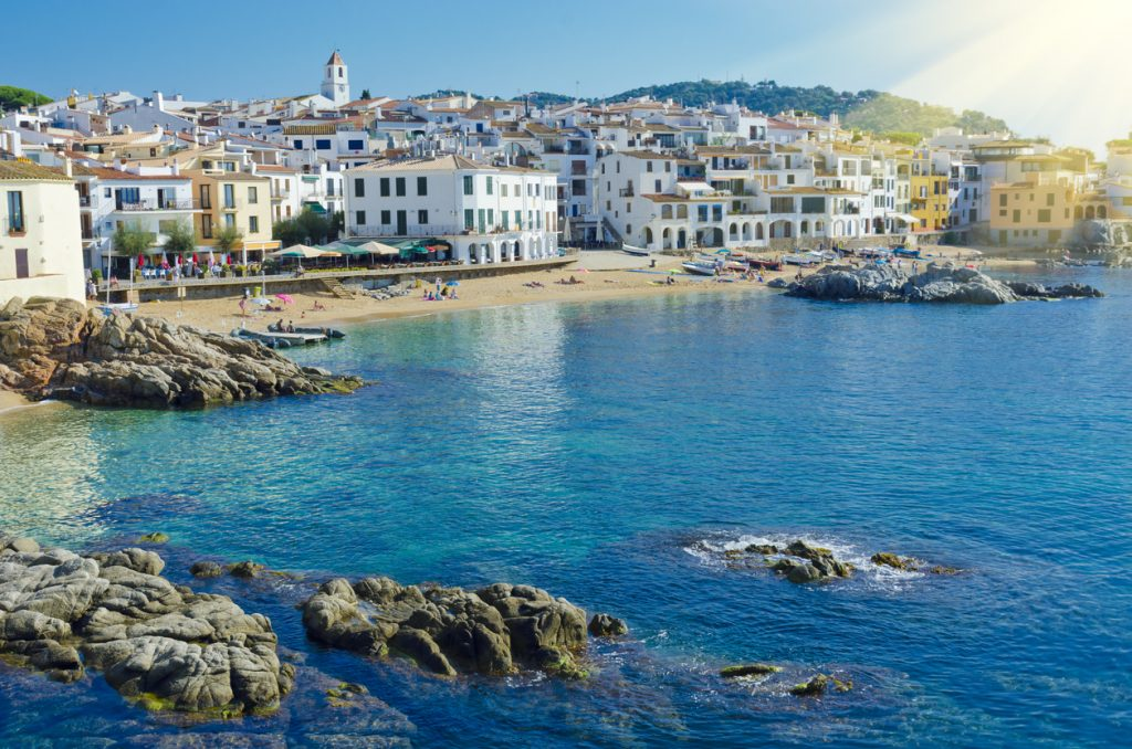Coastal town Calella de Palafrugell on the Costa Brava