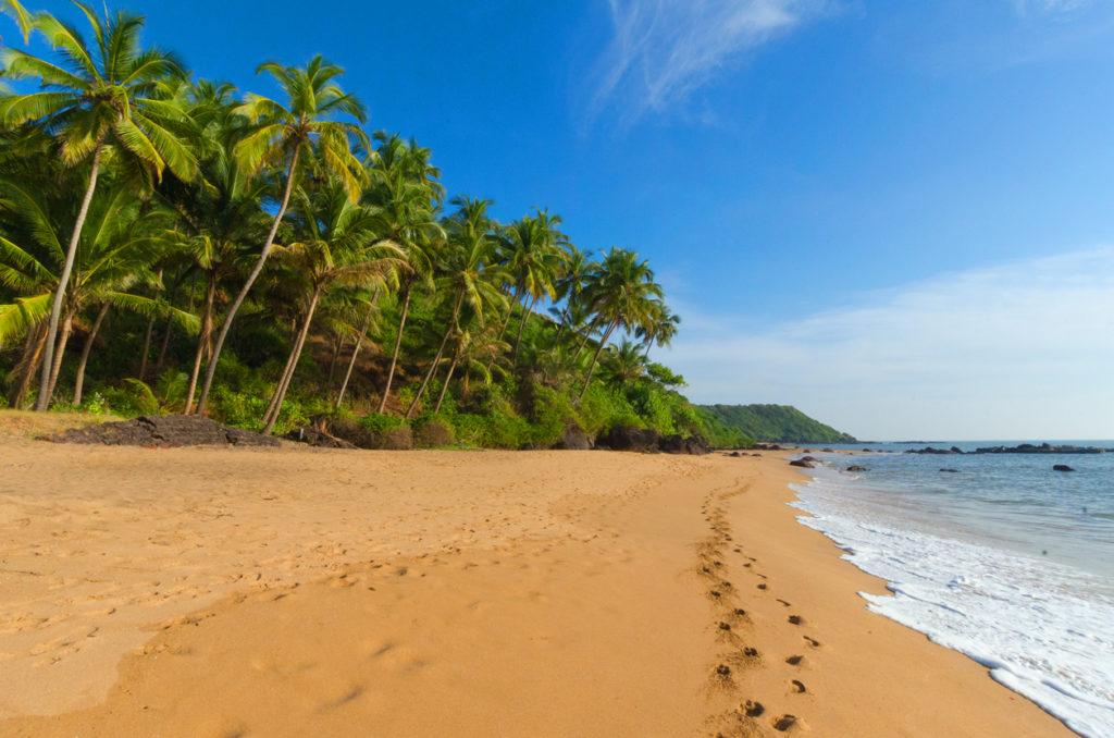 Beautiful landscape beach in Goa