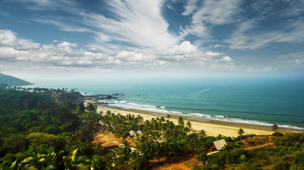 View of Goa beach