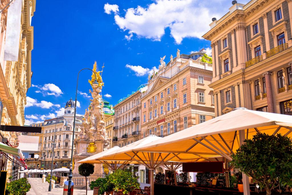 Historic architecture square in Vienna - Austria