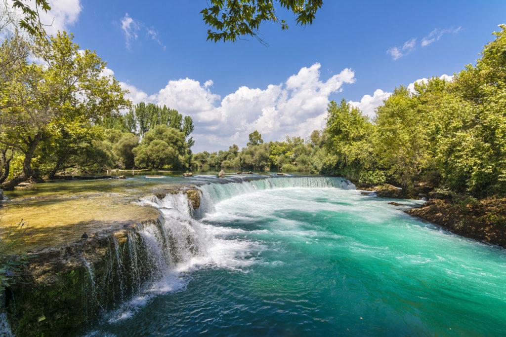 Manavgat Waterfall is popular tourist attraction
