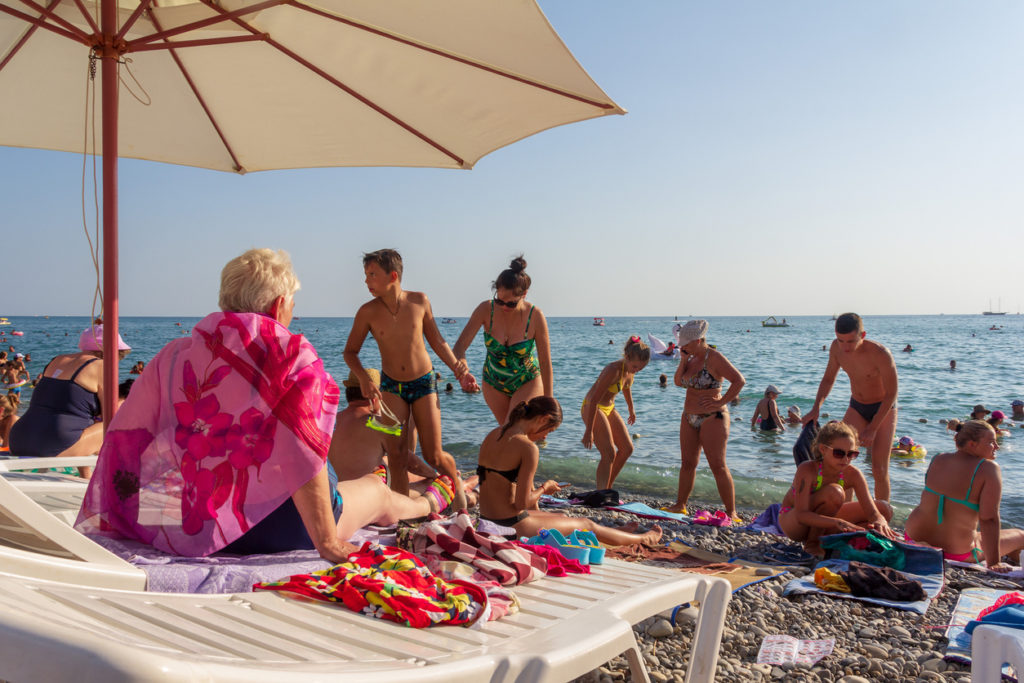 Summer day on Sochi beach