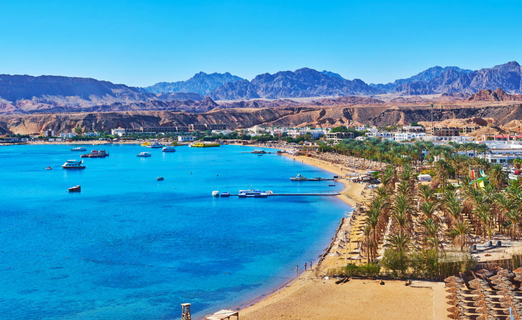 Sinai peninsula boasts perfect sand beaches, multiple diving areas, beautiful desert nature and fantastic mountain landscapes, Sharm El Sheikh, Egypt.