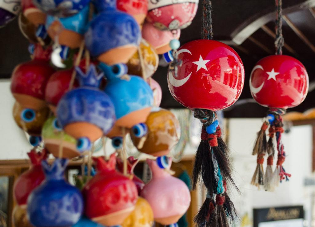 Colourful Turkish Souvenirs in Kalkan