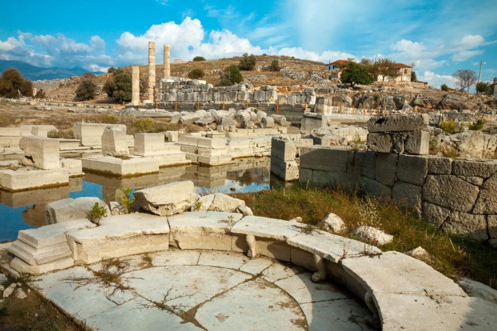Ancient Lycian city Xanthos Turkey