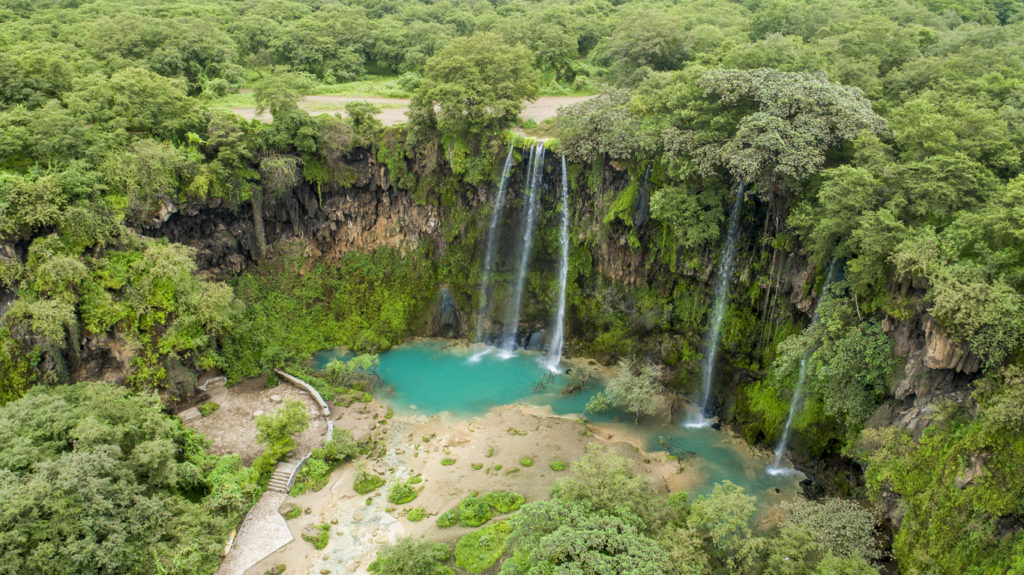 Ayn Athum waterfall, Salalah, Sultanate of Oman