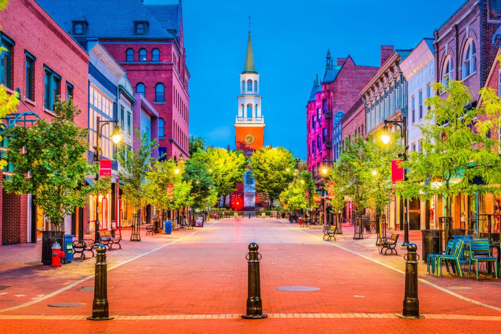Burlington, Vermont at Church Street Marketplace.