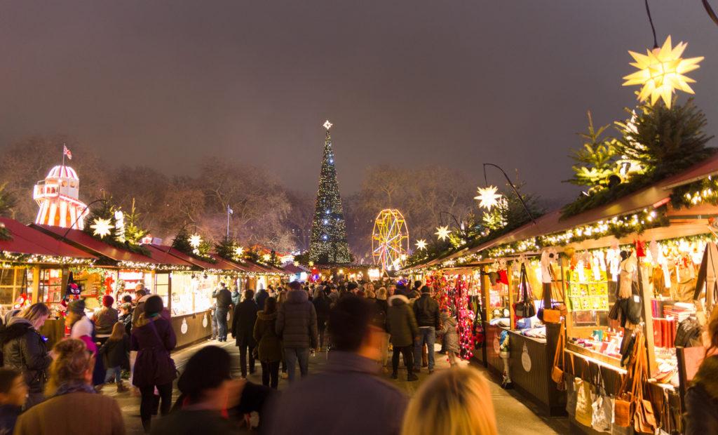 Christmas market at Hyde Park