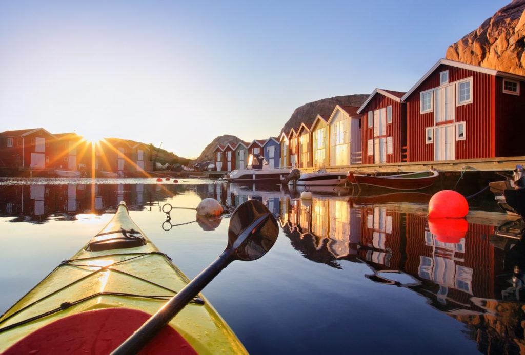 Kayaking in Sweden