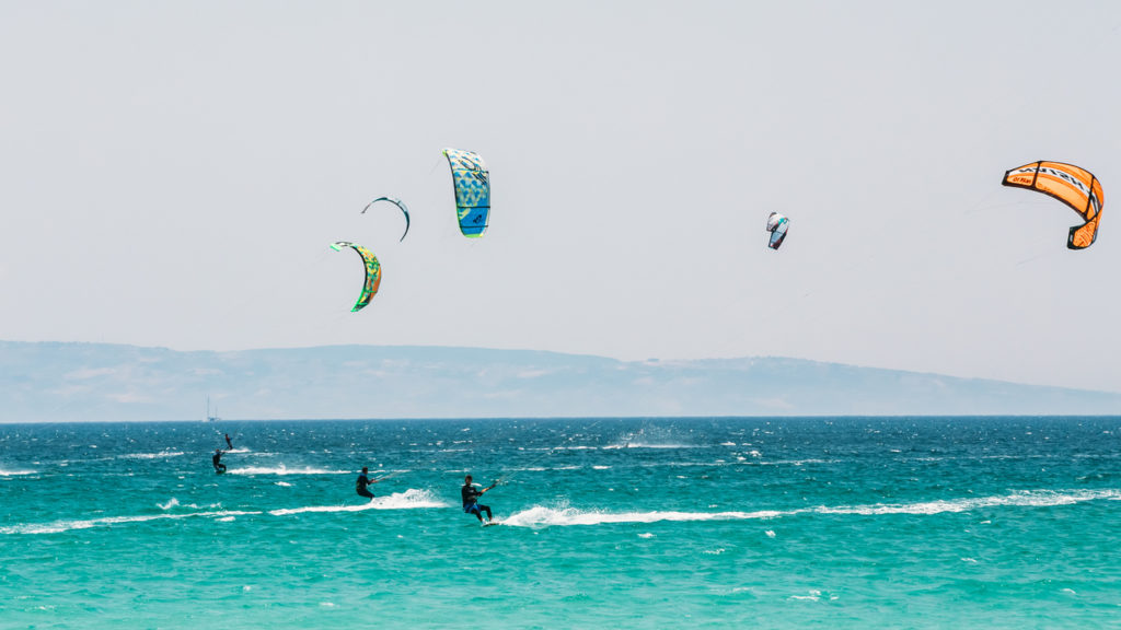 Kite surfing in Tarifa, Spain