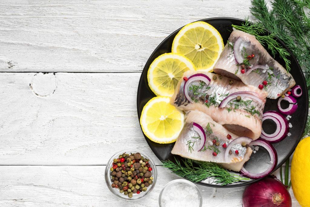 Pickled herring in Sweden