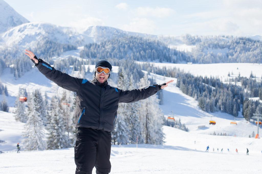 Skiing in Lipno, Southern Bohemia