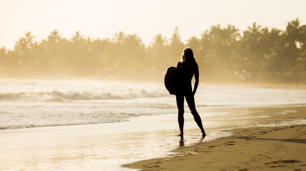 Surfer at Cabarete Beach