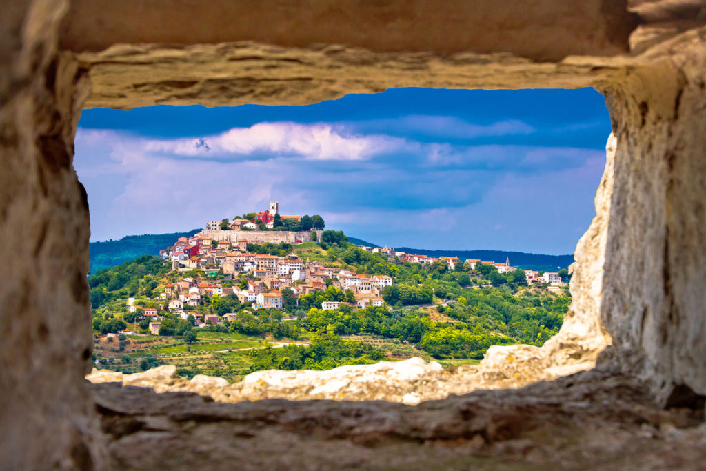 Town of Motovun looking amazing in Croatia