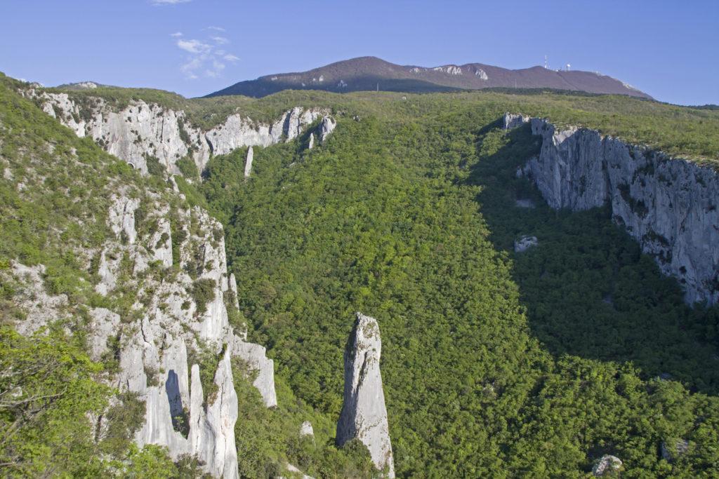 Vela Draga in the nature park Učka