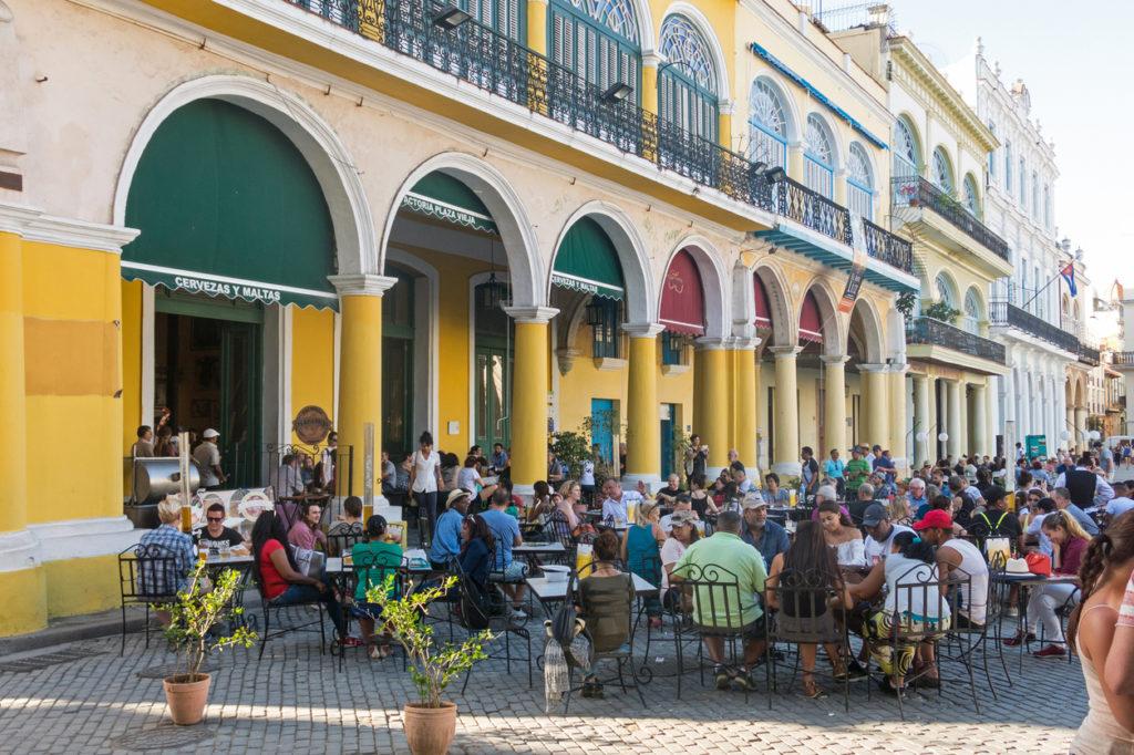 Plaza Vieja in the colonial neighborhood of Old Havana