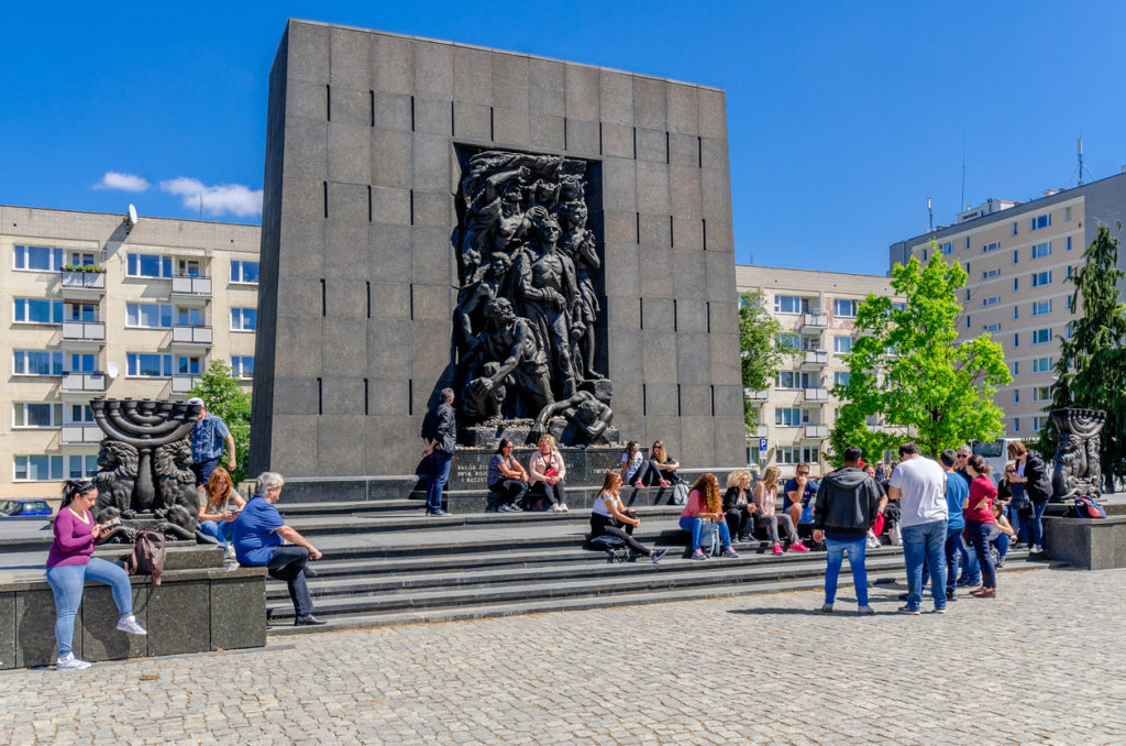 The Monument to the Ghetto Heroes, designed by Natan Rapaport. Warsaw, masovian province, Poland.