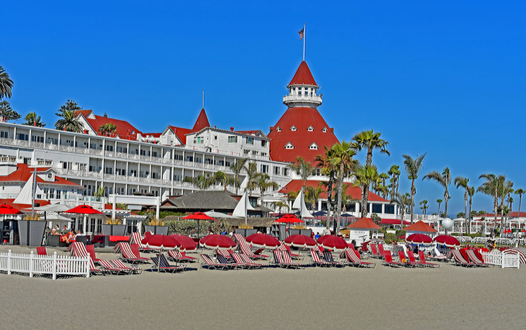 The famous hotel on Coronado Beach