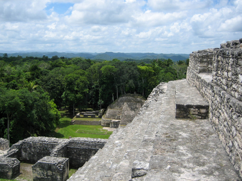 Caracol is a Mayan ruin site in Belize near the border with Guatemala.