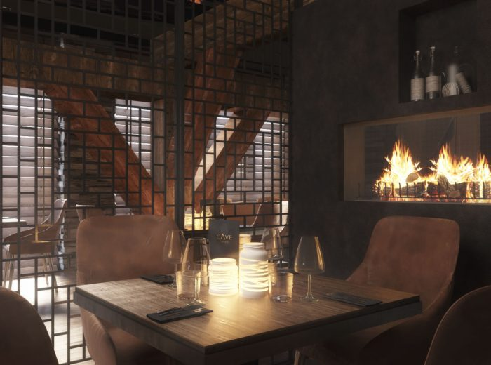 Cave Hotel and Golf Resort Firepit Restuarant