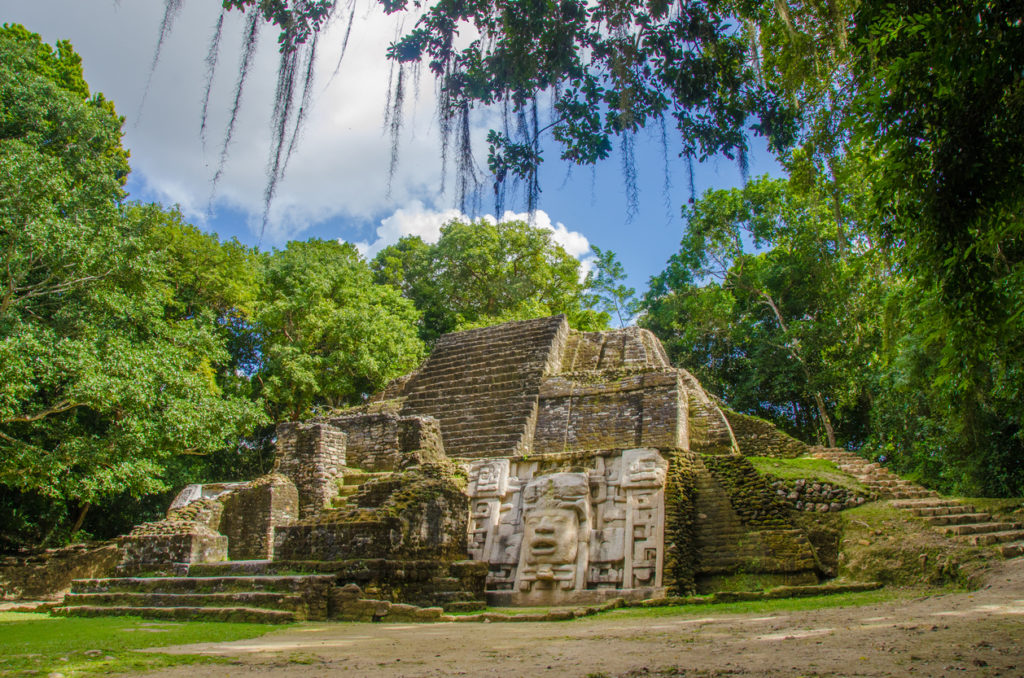 Deep in the forest of Belize ancient rions of the Mayas